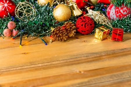 Christmas gift box with christmas balls photo