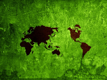 world map vintage artwork perfect background with space Stock Photo - 17018611