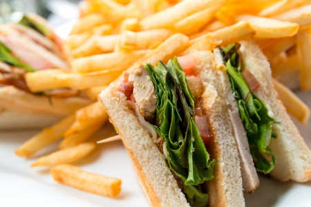 Sandwich with bacon - chicken, cheese and lettuce Stock Photo - 17212530