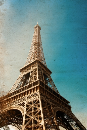 The Eiffel Tower (nickname La dame de fer, the iron lady),The tower has become the most prominent symbol of both Paris and France Stock Photo - 17198106
