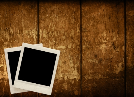 Blank photo frame with textured grunge background photo