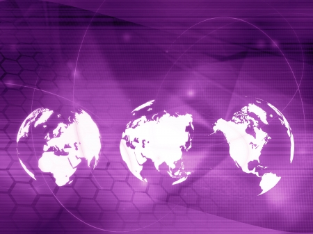 world map technology style - perfect background with space for text or image Stock Photo - 17568244
