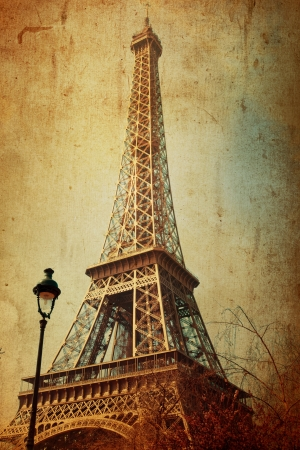 The Eiffel Tower (nickname La dame de fer, the iron lady),The tower has become the most prominent symbol of both Paris and France Stock Photo - 17567466