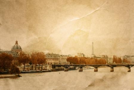 paris vintage: pasado de moda en París, Francia - con el espacio para el texto o la imagen