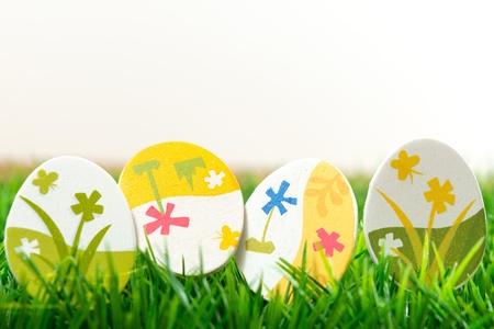 Easter eggs on green grass Stock Photo - 17872396