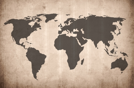 world map vintage artwork - perfect background with space for text or image Standard-Bild