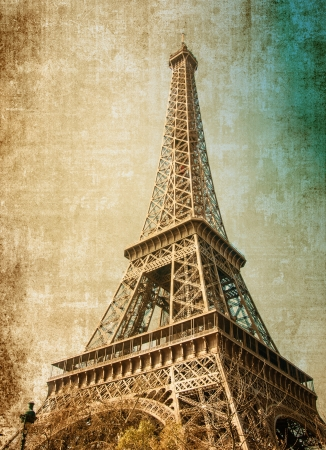 The Eiffel Tower (nickname La dame de fer, the iron lady),The tower has become the most prominent symbol of both Paris and France Stock Photo - 18153528