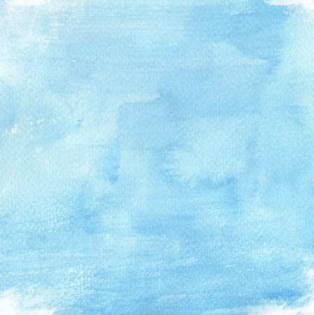 blue watercolor background for your design painting on paper from my originals  Foto de archivo