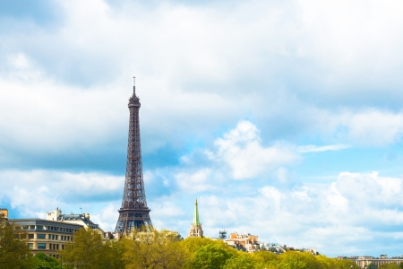 The Eiffel Tower (nickname La dame de fer, the iron lady),The tower has become the most prominent symbol of both Paris and France Stock Photo - 18429574
