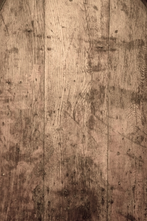 wood stain: Vintage picture frame on wooden wall Stock Photo