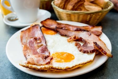 Prepared Egg and bacon - prepared egg under the sun photo