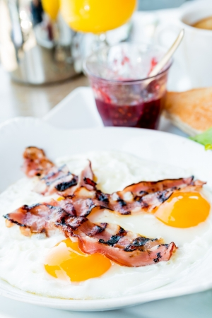 Prepared Egg and bacon- prepared egg under the sun photo