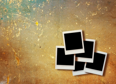 vintage instant photo with grunge background  photo