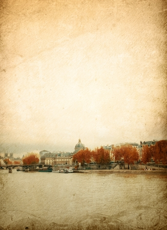 beautiful Parisian streets - with space for text or image photo