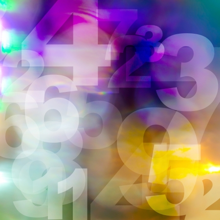 retro style numbers-background in grunge style photo