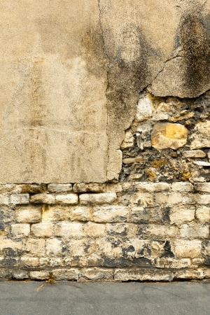 gritty: Brown grungy wall - Sandstone surface background Stock Photo