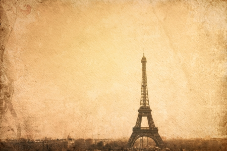 retro style The Eiffel Tower photo