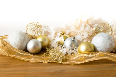 christmas decoration over lights background Stock Photo - 20831879