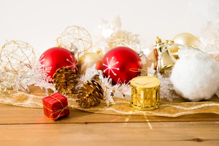 christmas decoration over lights background Stock Photo - 20831881