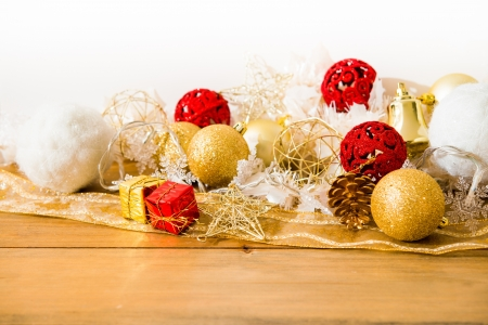 christmas decoration over lights background Stock Photo - 20831882