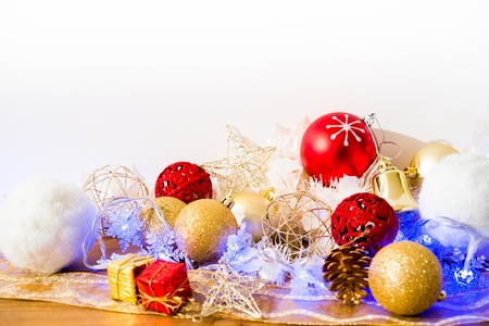 christmas decoration over lights background Stock Photo - 20831883