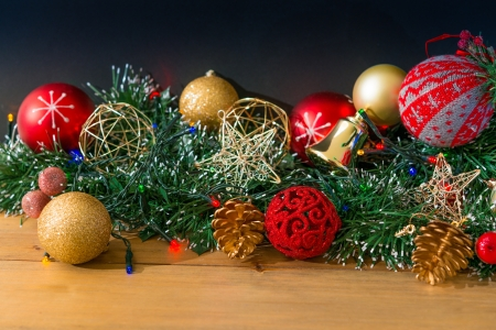 christmas decoration over dark background Stock Photo - 20831884