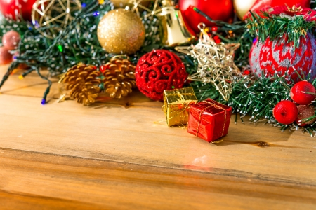christmas decoration over dark background Stock Photo - 20831885