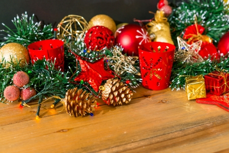 christmas decoration over dark background Stock Photo - 20831927