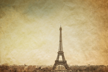 Retro Eiffel Tower photo