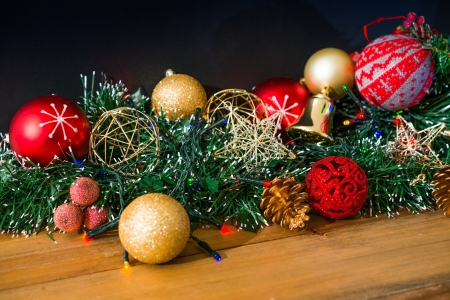 christmas decoration over dark background Stock Photo - 21042148