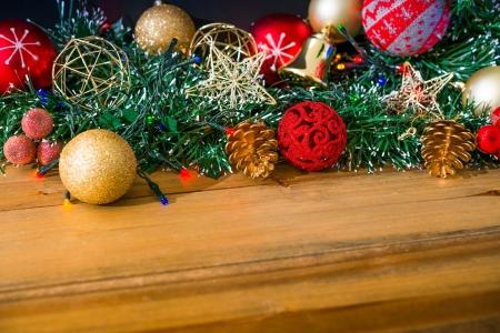 christmas decoration over dark background Stock Photo - 21042149