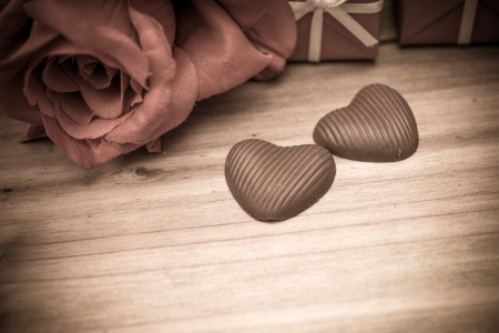 Valentines Chocolate-Love sweet heart shaped chocolates candies photo