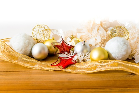 christmas decoration over lights background Stock Photo - 21409116