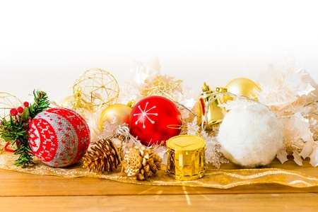 christmas decoration over lights background Stock Photo - 21409119