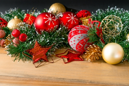 christmas decoration over dark background Stock Photo - 21409121