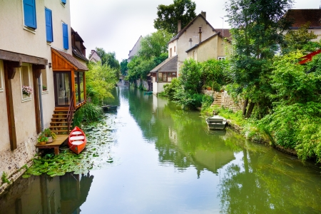 chartres: Antique Village in france Europe Stock Photo