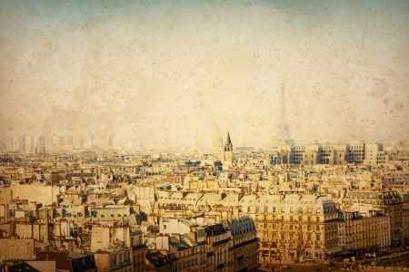 beautiful Parisian view - with space for text or image photo