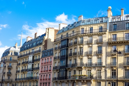 antique city building in paris,france Europe Standard-Bild