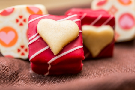 saint valentines day: Love sweet heart shaped chocolates candies