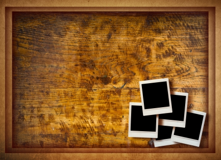 vintage instant photo with grunge background