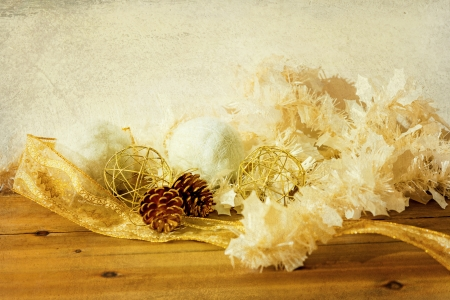 old fashioned antique christmas decoration  Stock Photo