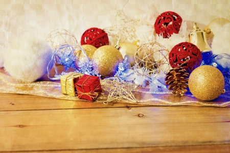 old fashioned: old fashioned antique christmas decoration  Stock Photo
