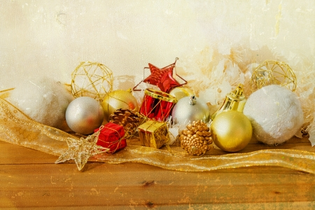 old fashioned antique christmas decoration  photo