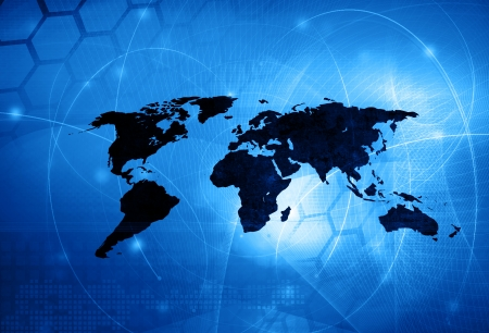 Weltkarte Technologie Stil - perfekte Hintergrund mit Raum für Text oder Bild Standard-Bild - 24354694
