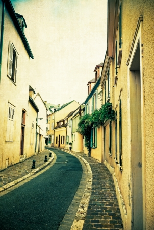 retro style Antique Village in france Europe photo