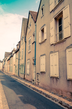 middleages: beautiful view house in France Stock Photo