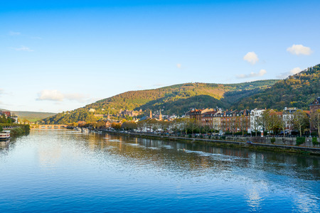 view to old town of Heidelberg, Germany  Stock Photo