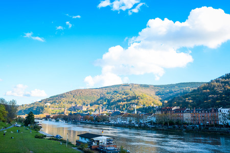 view to old town of Heidelberg, Germany  photo