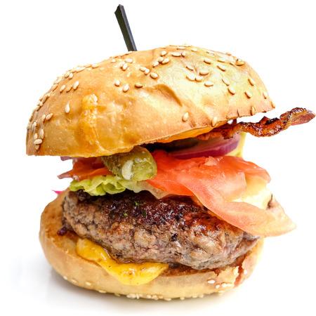 Kaas hamburger - Amerikaanse kaas hamburger met verse salade