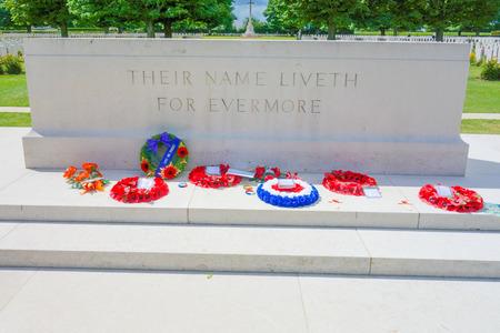 omaha: Omaha Beach, Normandy,Ferance.- August 9: American War Cemetery on August 9, 2013. American War Cemetery at Omaha Beach, Normandy (Colleville-sur-Mer ) France.